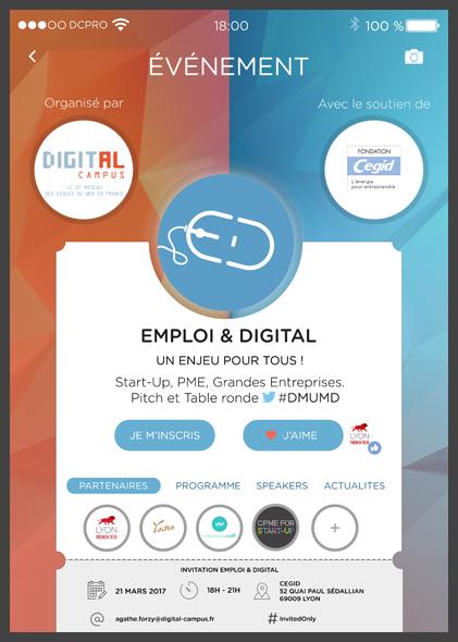 Affiche de l'événement Emploi & Digital