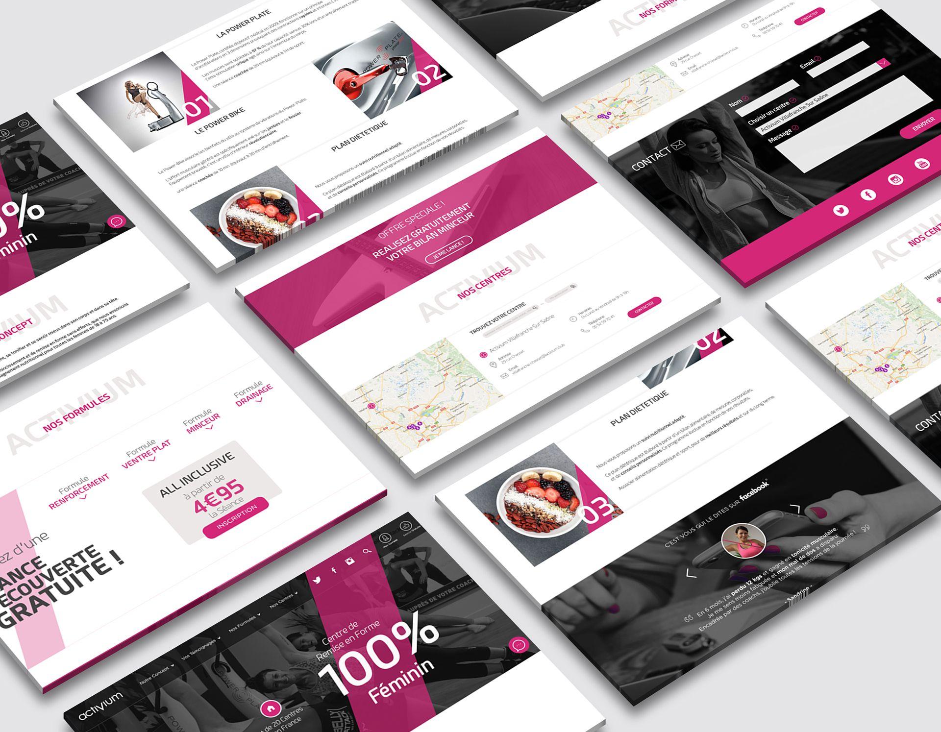 Webdesign du site Activium crée par Mickguti.com