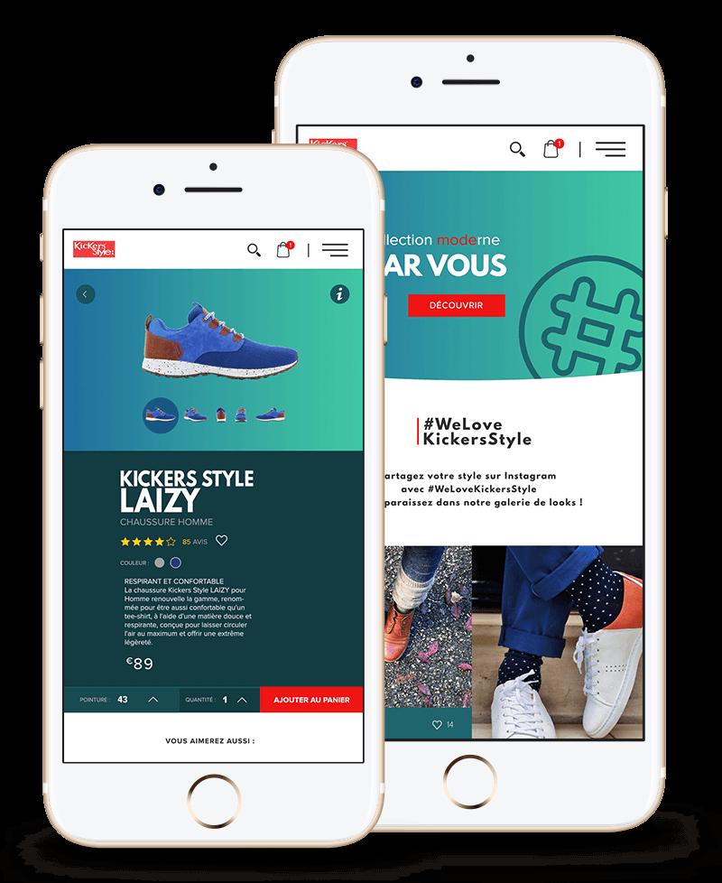 Webdesign Kickers Style du Freelance MickGuti