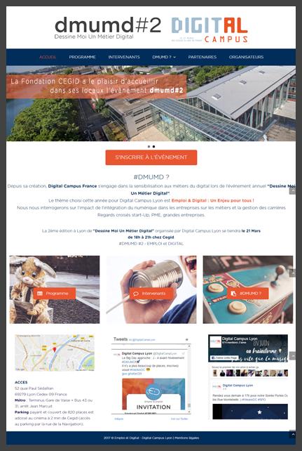 Site internet de l'événement Emploi & Digital